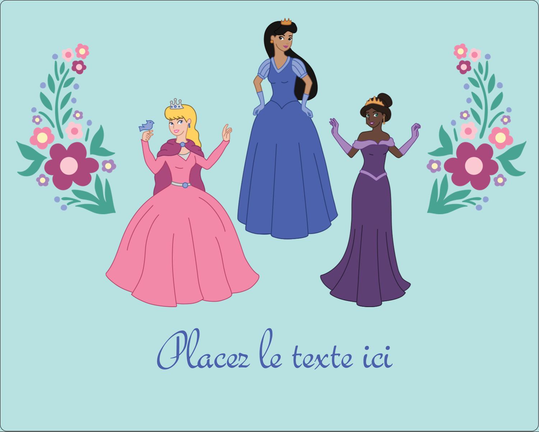 """2"""" Diameter Étiquettes rondes gaufrées - Princesses"""