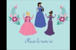 Princesses Étiquettes rondes gaufrées - gabarit prédéfini. <br/>Utilisez notre logiciel Avery Design & Print Online pour personnaliser facilement la conception.