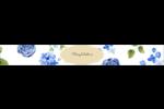 Bleu floral  Étiquettes ovales - gabarit prédéfini. <br/>Utilisez notre logiciel Avery Design & Print Online pour personnaliser facilement la conception.