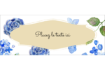 Bleu floral  Affichette - gabarit prédéfini. <br/>Utilisez notre logiciel Avery Design & Print Online pour personnaliser facilement la conception.