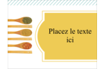 Cuillères Carte Postale - gabarit prédéfini. <br/>Utilisez notre logiciel Avery Design & Print Online pour personnaliser facilement la conception.