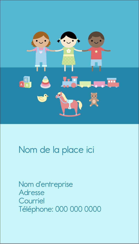 """3½"""" x 2"""" Carte d'affaire - Éducation et préscolaire"""