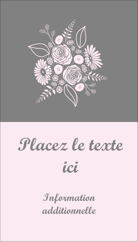 """3½"""" x 2"""" Carte d'affaire - Bouquet de fleurs"""