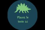 Dinosaure Étiquettes rondes - gabarit prédéfini. <br/>Utilisez notre logiciel Avery Design & Print Online pour personnaliser facilement la conception.