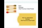 Cuillères Étiquettes d'expédition - gabarit prédéfini. <br/>Utilisez notre logiciel Avery Design & Print Online pour personnaliser facilement la conception.