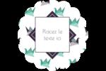 Grue en origami Étiquettes rondes - gabarit prédéfini. <br/>Utilisez notre logiciel Avery Design & Print Online pour personnaliser facilement la conception.