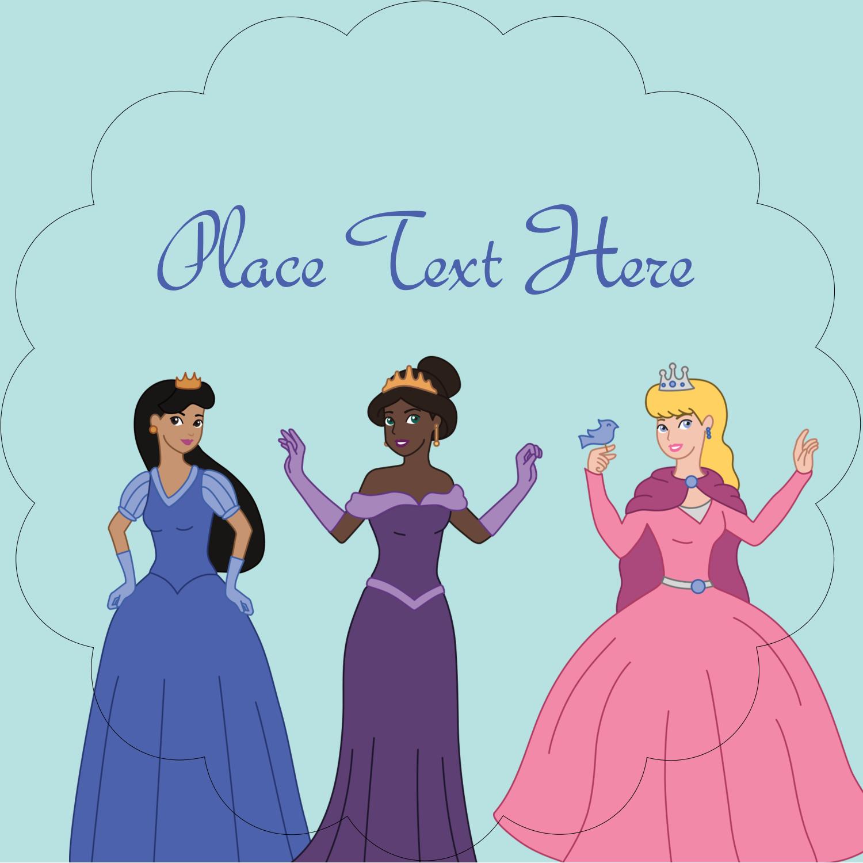 "2½"" Scallop Labels - Princesses"