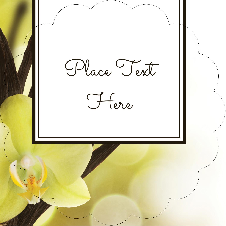 """2½"""" Scallop Labels - Vanilla Bean Flower"""