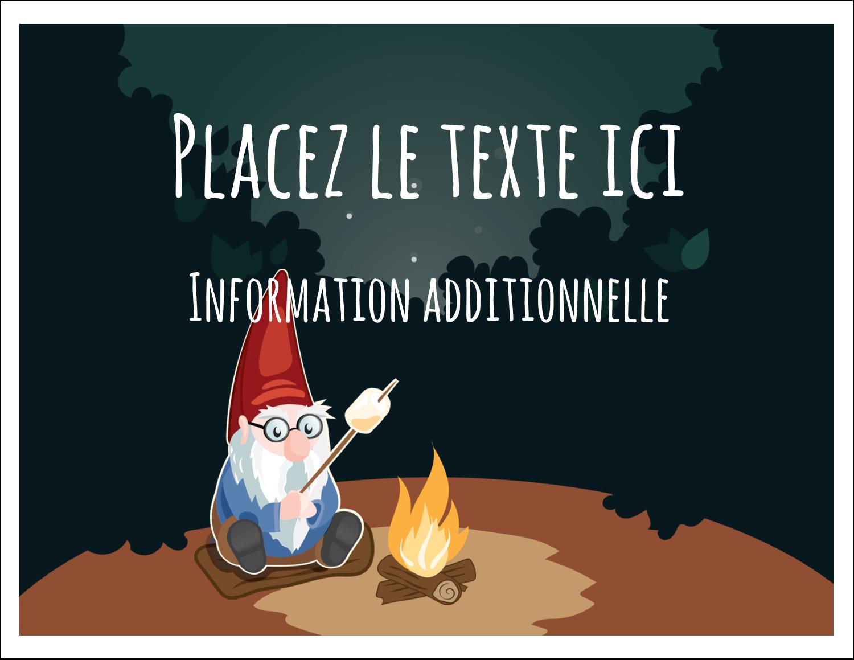 """8½"""" x 11"""" Cartes Et Articles D'Artisanat Imprimables - Gnome en camping"""