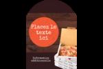 Livraison de pizza Étiquettes rectangulaires - gabarit prédéfini. <br/>Utilisez notre logiciel Avery Design & Print Online pour personnaliser facilement la conception.