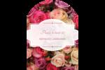 Bouquet de roses Étiquettes rectangulaires - gabarit prédéfini. <br/>Utilisez notre logiciel Avery Design & Print Online pour personnaliser facilement la conception.