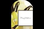 Fleur de vanille Étiquettes rectangulaires - gabarit prédéfini. <br/>Utilisez notre logiciel Avery Design & Print Online pour personnaliser facilement la conception.