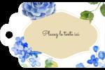 Bleu floral  Étiquettes imprimables - gabarit prédéfini. <br/>Utilisez notre logiciel Avery Design & Print Online pour personnaliser facilement la conception.