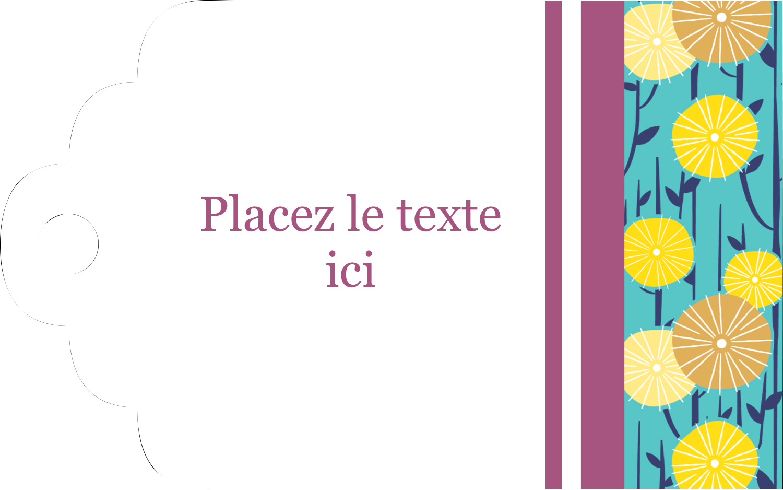 """2"""" x 1⅛"""" Étiquettes imprimables - Impression pissenlit"""