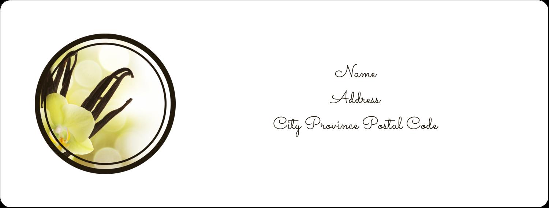 "1"" x 2⅝"" Address Label - Vanilla Bean Flower"