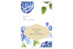 Customize personal and professional projects with pre-designed Blue Floral templates.