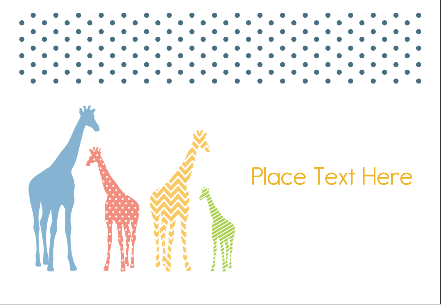 "3⅜"" x 2⅓"" Name Badge - Giraffe Party"