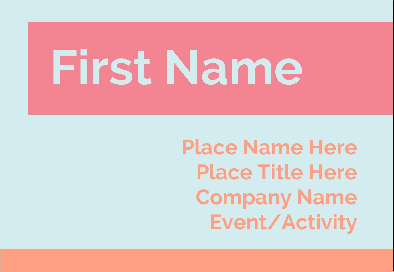 "3⅜"" x 2⅓"" Name Badge - Basic Treatment"