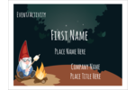 Add an adorable gnome to custom projects with pre-designed Gnome Camping templates.