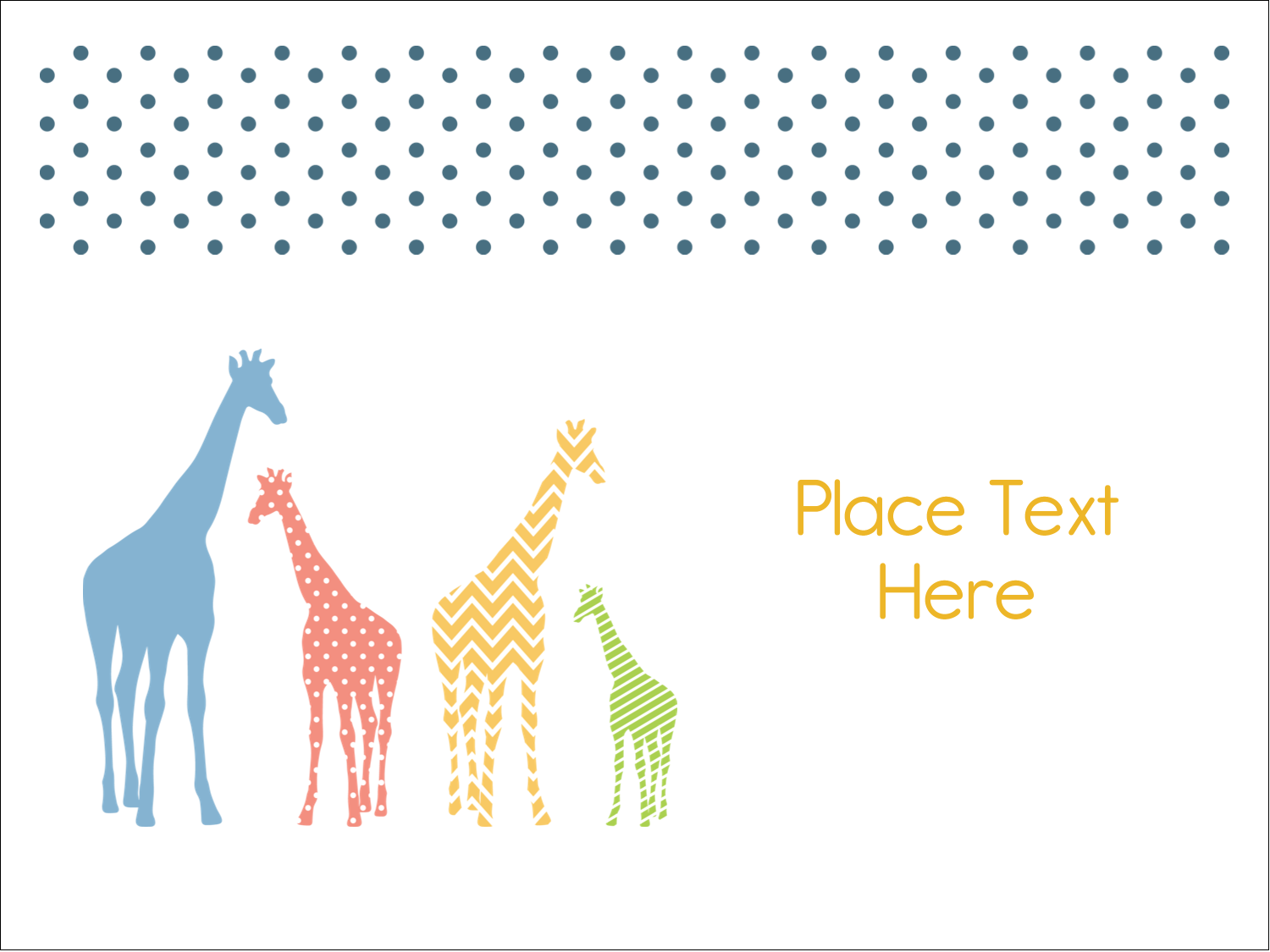 "3"" x 4"" Name Tags - Giraffe Party"