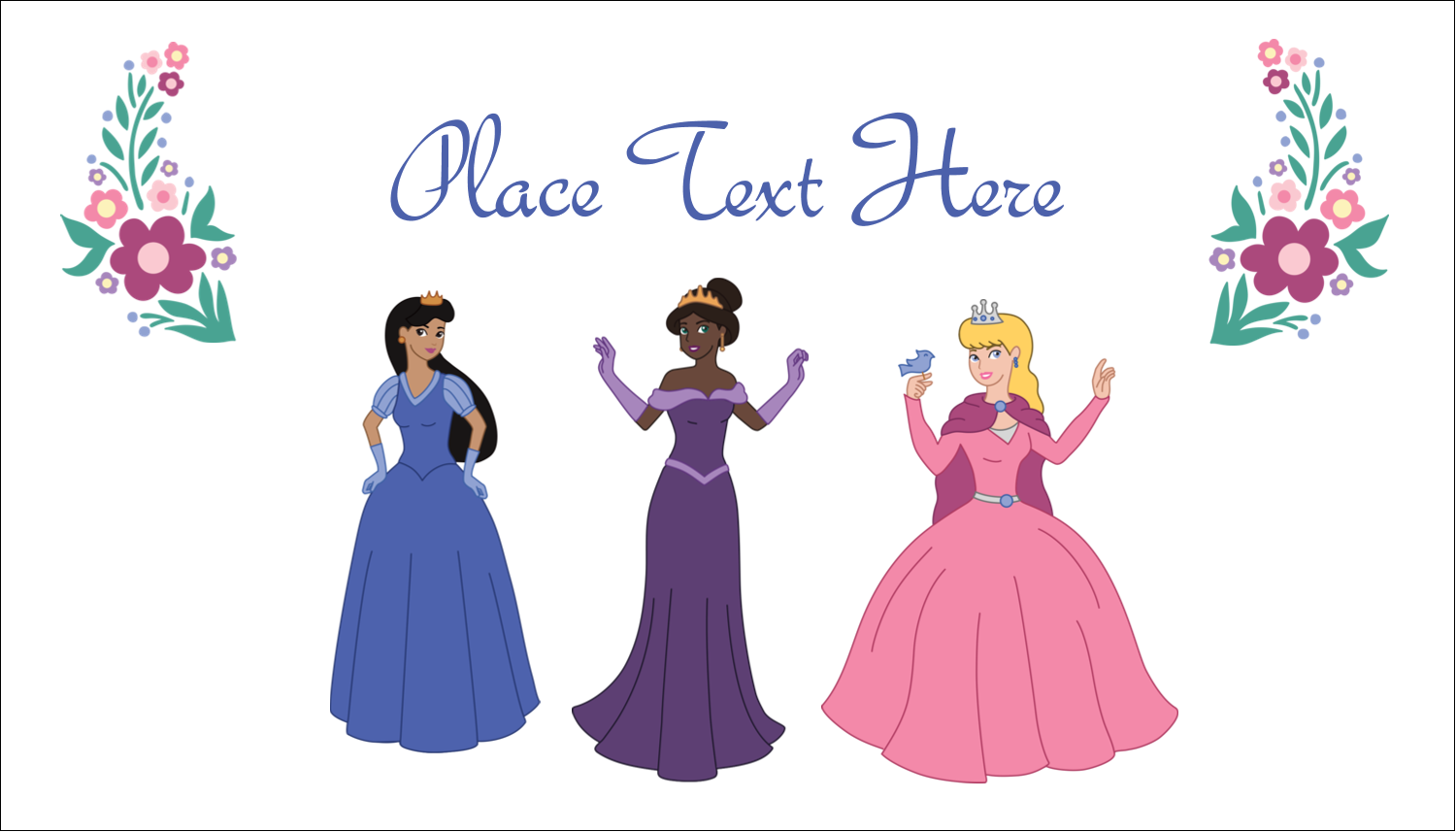 "2"" x 3½"" Business Card - Princesses"