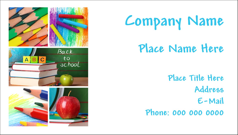 "2"" x 3½"" Business Card - Pencil Education"