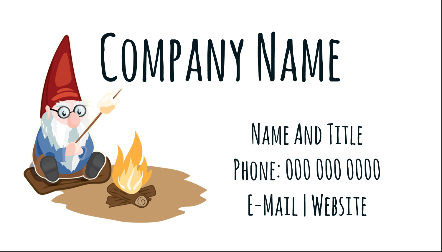 "2"" x 3½"" Business Card - Gnome Camping"
