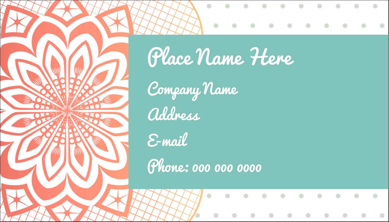 """2"""" x 3½"""" Business Card - Geometric Doily"""