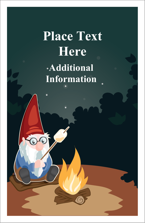 "5"" x 8½"" Half Fold Card - Gnome Camping"