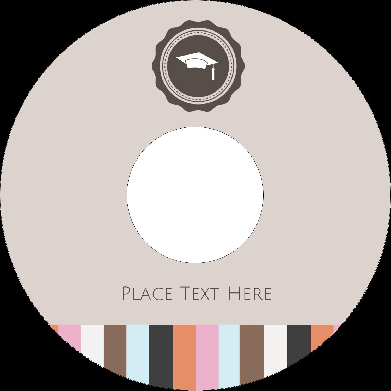 """4.65"""" CD-DVD Label - Grad Cap"""