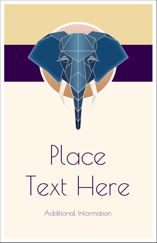 "5"" x 8½"" Half Fold Card - Geometric Elephant"