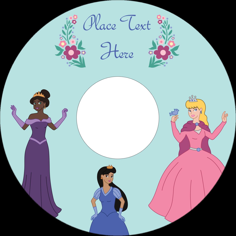"4.65"" CD-DVD Label - Princesses"
