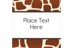 Go wild with your custom project using printable pre-designed Giraffe Print templates.