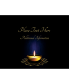 Give projects a peaceful tone with pre-designed Diwali Candle templates.