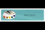 Palette de peinture Affichette - gabarit prédéfini. <br/>Utilisez notre logiciel Avery Design & Print Online pour personnaliser facilement la conception.