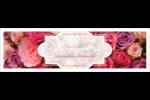 Bouquet de roses Affichette - gabarit prédéfini. <br/>Utilisez notre logiciel Avery Design & Print Online pour personnaliser facilement la conception.