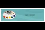 Palette de peinture Carte de note - gabarit prédéfini. <br/>Utilisez notre logiciel Avery Design & Print Online pour personnaliser facilement la conception.