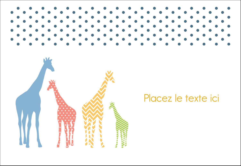 """1¼"""" Étiquettes à codage couleur - Girafe en fête"""
