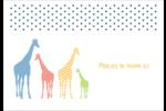 Girafe en fête Étiquettes à codage couleur - gabarit prédéfini. <br/>Utilisez notre logiciel Avery Design & Print Online pour personnaliser facilement la conception.