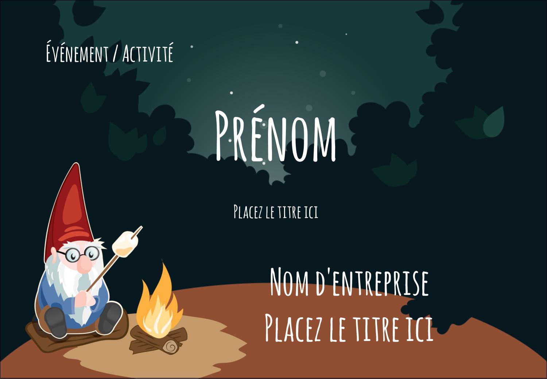"""1¼"""" Étiquettes à codage couleur - Gnome en camping"""