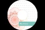 Napperon géométrique Étiquettes de classement - gabarit prédéfini. <br/>Utilisez notre logiciel Avery Design & Print Online pour personnaliser facilement la conception.
