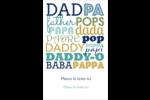 Papas du monde Reliures - gabarit prédéfini. <br/>Utilisez notre logiciel Avery Design & Print Online pour personnaliser facilement la conception.