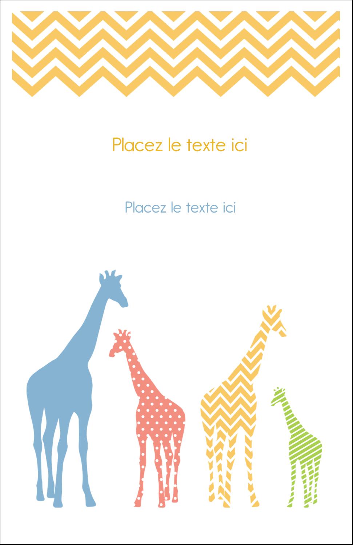 """8½"""" x 11"""" Binder Insert Reliures - Girafe en fête"""