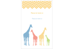 Girafe en fête Reliures - gabarit prédéfini. <br/>Utilisez notre logiciel Avery Design & Print Online pour personnaliser facilement la conception.