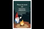 Gnome en camping Reliures - gabarit prédéfini. <br/>Utilisez notre logiciel Avery Design & Print Online pour personnaliser facilement la conception.
