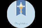 Première communion Étiquettes Voyantes - gabarit prédéfini. <br/>Utilisez notre logiciel Avery Design & Print Online pour personnaliser facilement la conception.