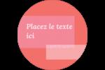 Traitement rose Étiquettes Voyantes - gabarit prédéfini. <br/>Utilisez notre logiciel Avery Design & Print Online pour personnaliser facilement la conception.