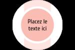 Traitement Sphère rose Étiquettes Voyantes - gabarit prédéfini. <br/>Utilisez notre logiciel Avery Design & Print Online pour personnaliser facilement la conception.