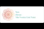Napperon géométrique Étiquettes D'Adresse - gabarit prédéfini. <br/>Utilisez notre logiciel Avery Design & Print Online pour personnaliser facilement la conception.