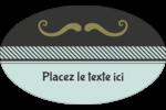 Moustache de papa Étiquettes carrées - gabarit prédéfini. <br/>Utilisez notre logiciel Avery Design & Print Online pour personnaliser facilement la conception.